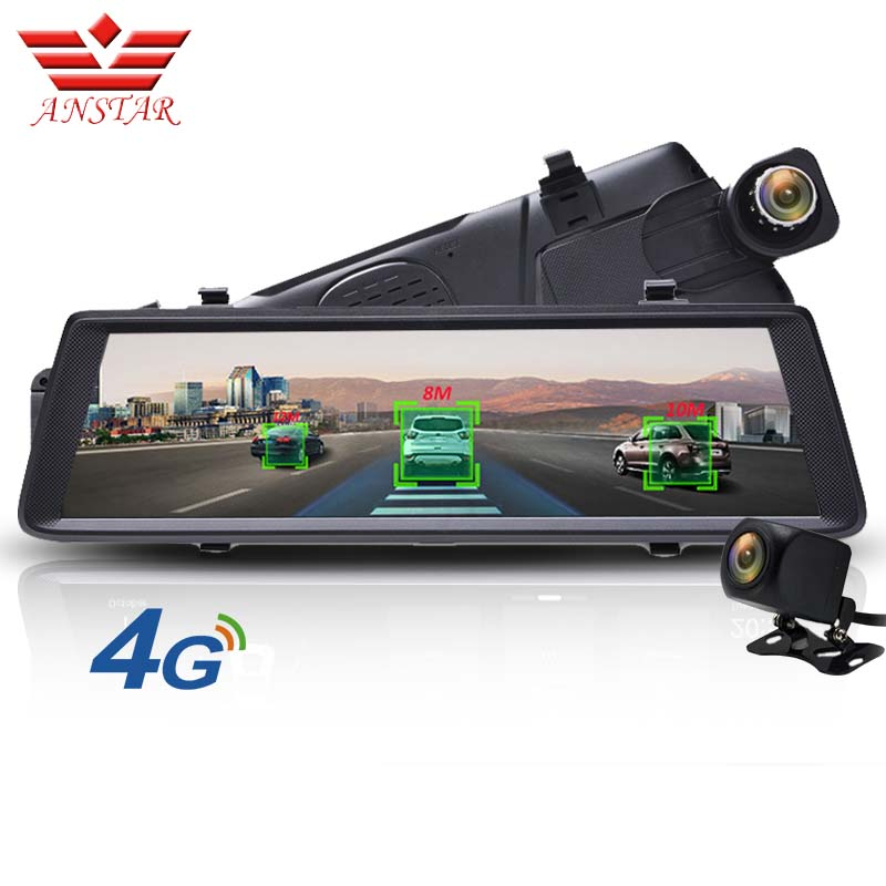 ANSTAR ADAS Voiture DVR Caméra 4G Android Vidéo Enregistreur Double Lentille Bluetooth WIFI FHD 1080 p GPS Navigateur De Voiture rétroviseur DVR