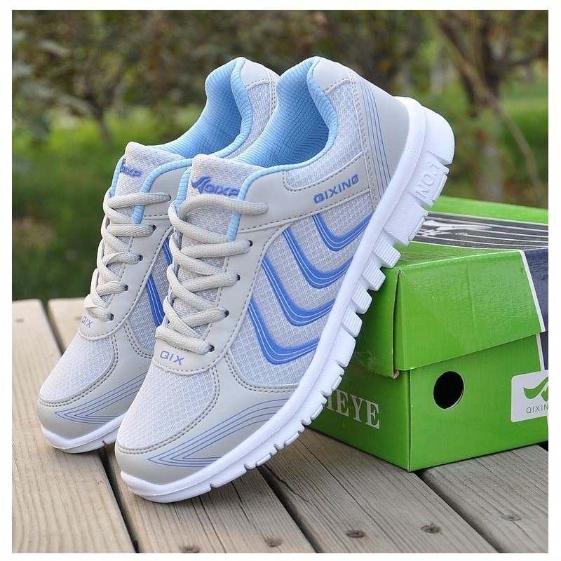 Shoes Woman Breathable Women Casual Shoes Fashion 2017 New Arrivals Women Lace Up Shoes Blue