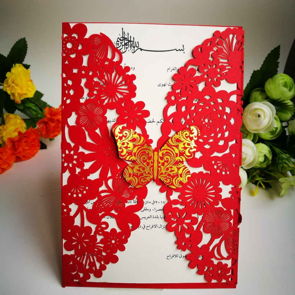 30Pcs Wedding Invitations Card 3D Butterfly Laser Cut Invitations ...