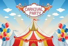 Laeacco Canival Party Cartoon Tent Balloon Children Photographic Backgrounds Customized Photography Backdrops For Photo Studio
