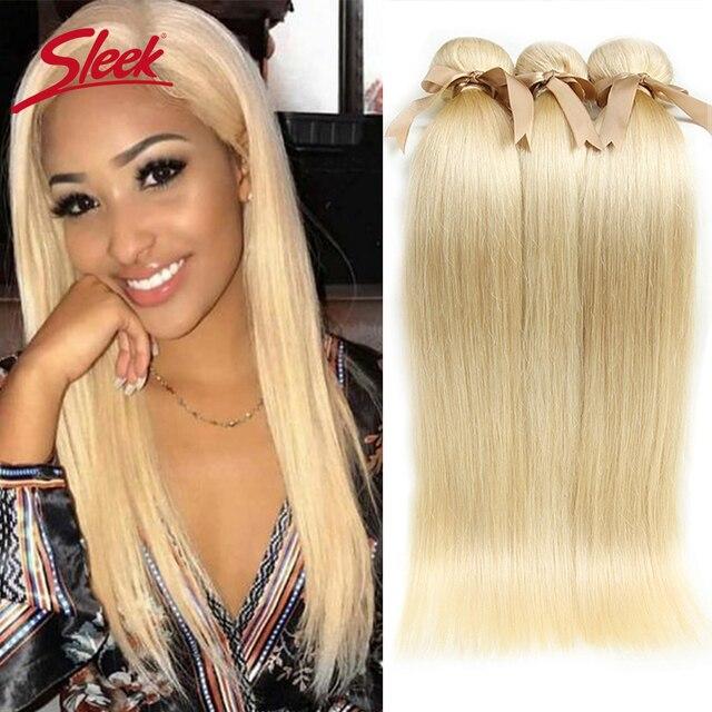 מלוטש 613 דבש בלונד חבילות ישר שיער פרואני שיער Weave חבילות 100% ישר רמי שיער הרחבות 10 כדי 26 סנטימטרים