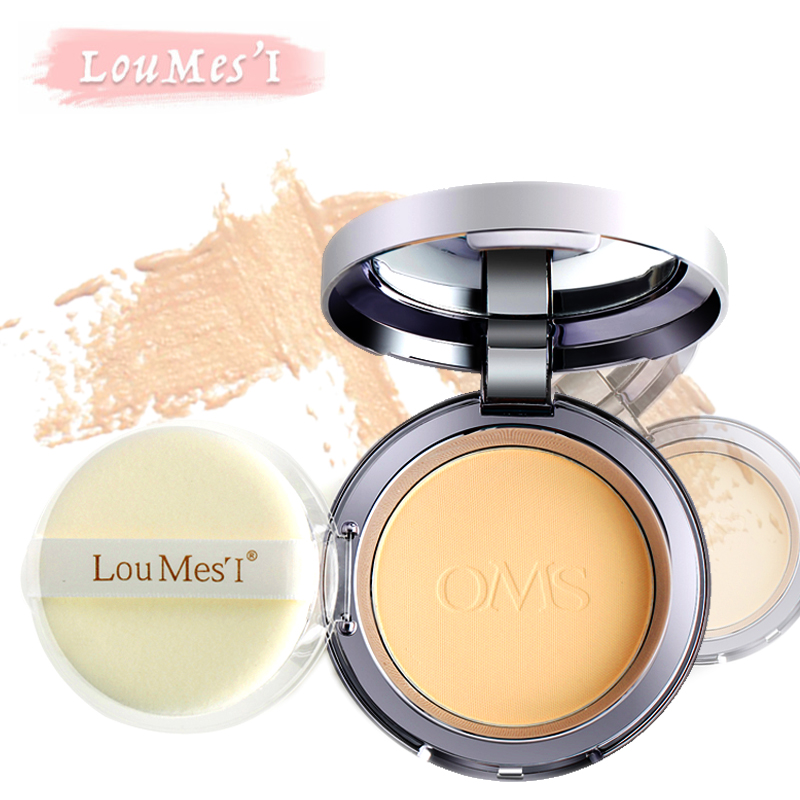 Loumesi  Powder Concealer Oil Control Lasting Face Finishing Whitening Makeup Brighten Foundation  base make up  18g