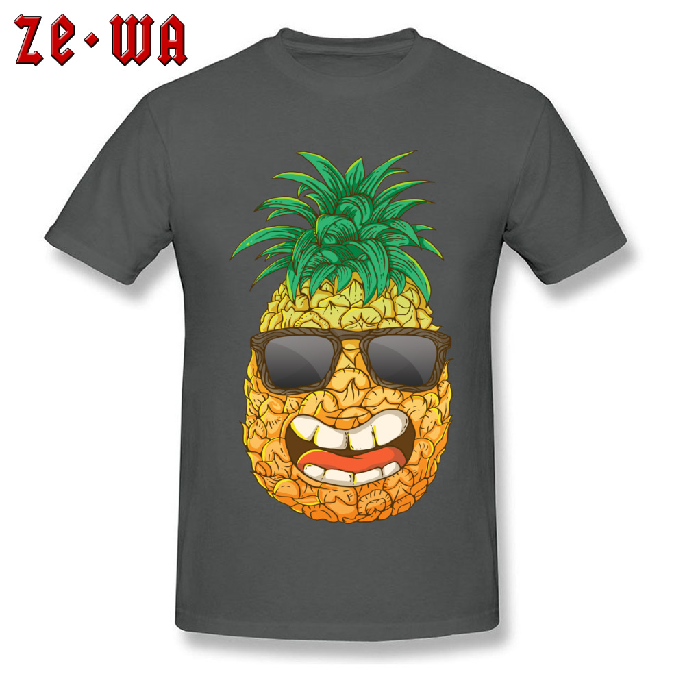 Cool Pineapple Round Neck Top T-shirts Labor Day Tops Shirts Short Sleeve Special Cotton Cool Tops & Tees Custom Student Cool Pineapple carbon