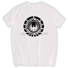 Battlestar Galactica Cylons Sci Fi Geek Movie Series Classic Retro T Shirt men Tee