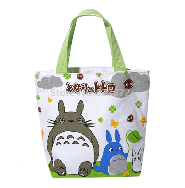 Cute Cartoon Totoro S Kids Lunch Bag For School Women Children Mini Small Tote Box