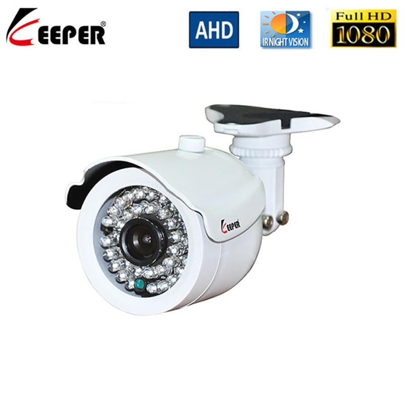 Камера видеонаблюдения Keeper HD 2MP AHD, инфракрасная камера высокого разрешения 1080P CCTV, наружная Водонепроницаемая цилиндрическая камера видеон...