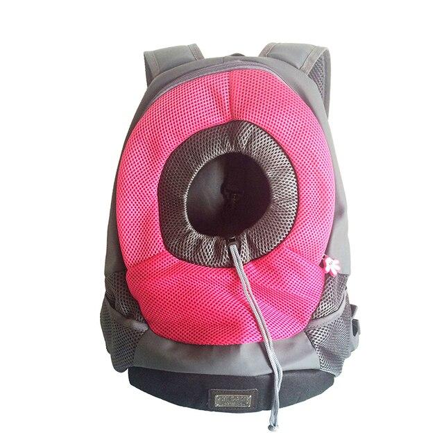 Outdoor Pet Dog Carrier Pet Backpack Bag Portable Travel Bag Pet Dog Front Bag Mesh Backpack Head Out Double Shoulder  4
