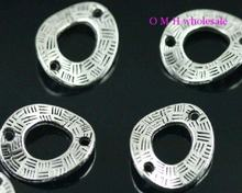 OMH grosir Gratis kapal 8 pcs tibet perak 2 lubang spacer Perhiasan logam beads18X15mm ZL183(China)