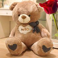 Fancytrader New Teddy Bear Toy 49'' 125cm Giant Stuffed Plush Cute Hello Teddy Bear, Valentine's Day Gift Free Shipping FT90547