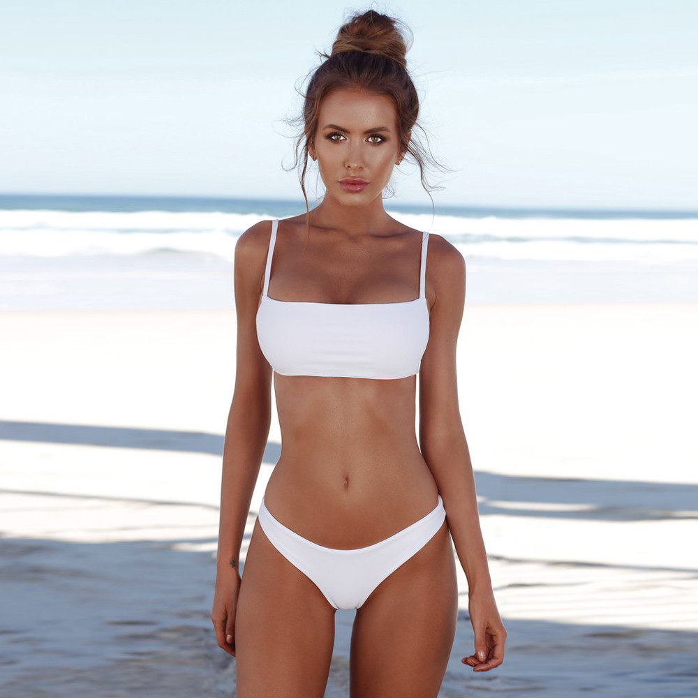 HTB1kGaGiXGWBuNjy0Fbq6z4sXXap 2019 Woman Thong Swim Set Sexy Swimwear Micro Swim Suits Girls Biquinis Female Solid Swimsuit Bathing Suits