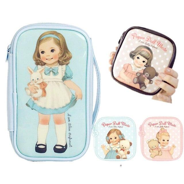 2015 New Fashion Doll Storage Case Santoro Girls Necessaries Bag Korean  Makeup Bag Cute Cosmetic Bag