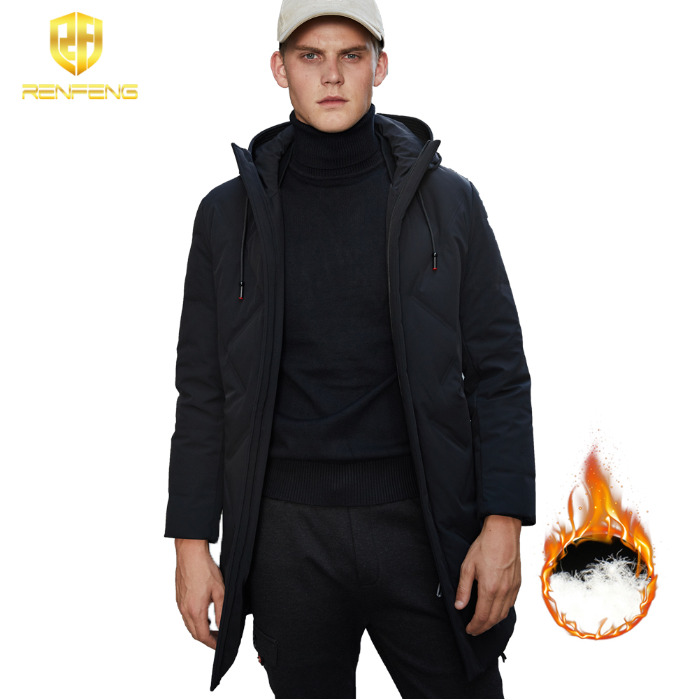 90% White Duck Down Men's Winter Jacket Ultralight Down Jacket Casual Outerwear Snow Warm Hoodies Collar Brand Coat   Parkas   2019
