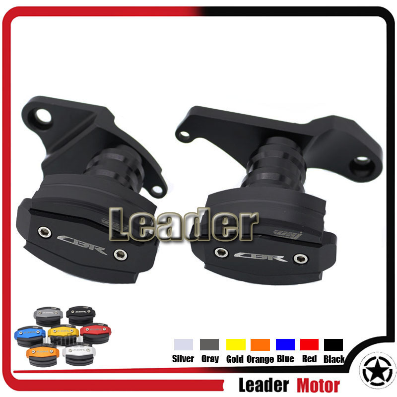 For HONDA CBR500R CBR 500R 13-15 Motorcycle Accessories Body Frame Sliders Crash Protector Motorbike Falling Protection Black for honda cbr 1000rr cbr1000rr 2008 2009 2010 2011 black motorcycle frame slider crash protector bobbins falling protection