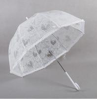 Yesello לבן תחרת חתונת מטרייה בעבודת יד מטריות עבור שושבין קישוט תחרה מטריית חג המולד קישוט מתנה