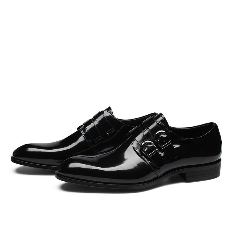 Cuir Chaussures E6665 Style Réel Respirant Pleine Italien En Robe Verni Formelle Fleur Eioupi Hommes Design D'affaires Nouveau 0wknP8XO