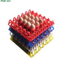 10 قطعة علبة بيض الدجاج 30 بيضة سعة تخزين البلاستيك النقل التجاري أدوات مزرعة البيض