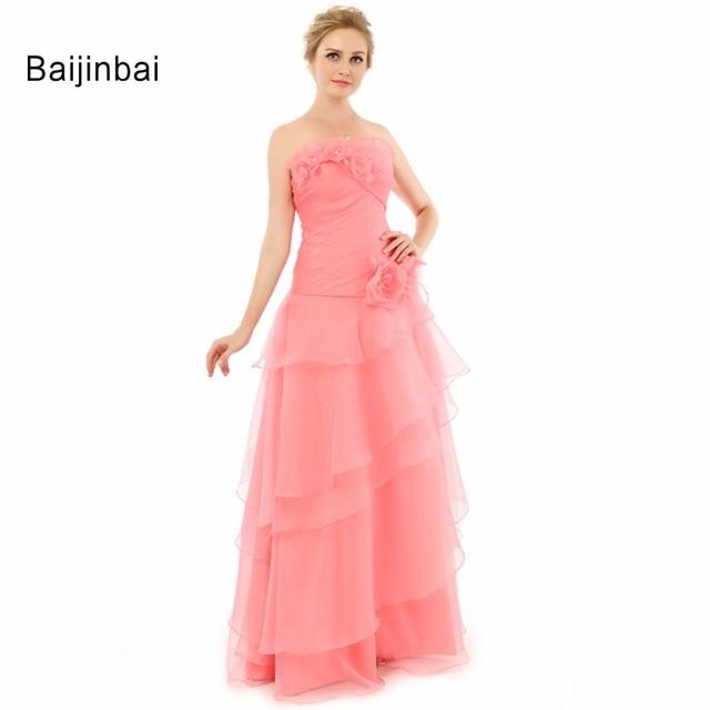 Baijinbai Nueva Boda Elegante Ocasión Vestido de Fiesta A Line Con ...