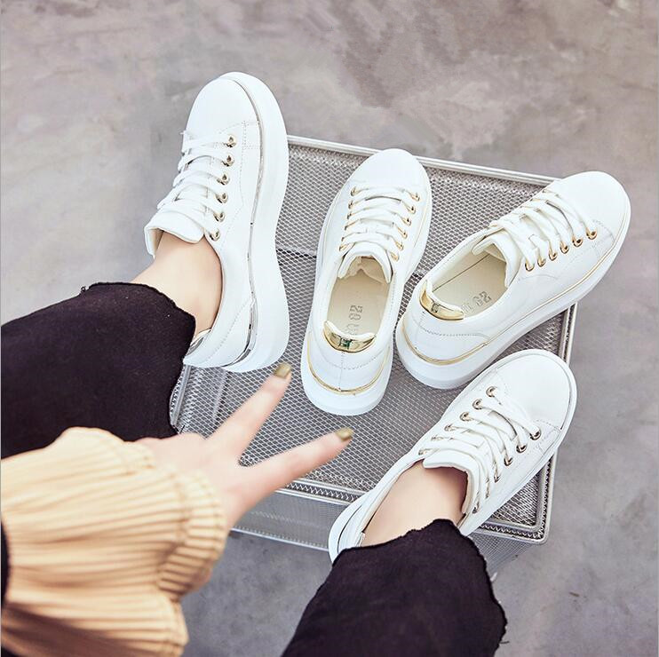 ФОТО 2017 Spring New Fashion Style Women Leisure Shoes Flats Real Genuine Cow Leather Woman Loafers Flattie High Quality White