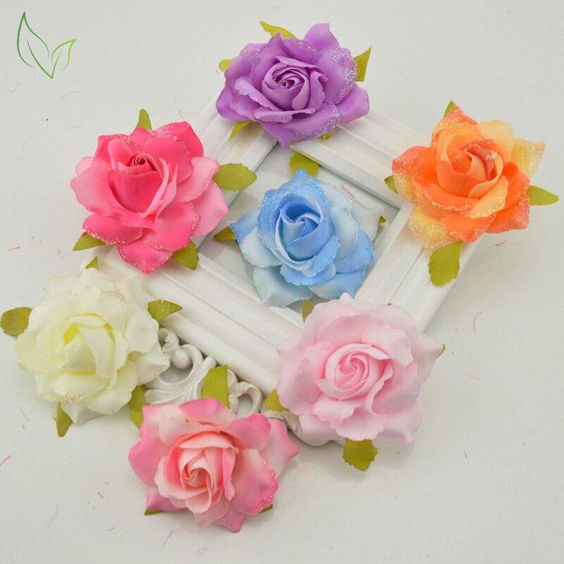 Silk fake flower roses artificial flowers cheap wedding decoration gift box scrapbooking diy needlework home decoration accessor