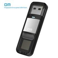 DM PD061 USB3.0 64 GB כונן עט כונן פלאש התקן אחסון בדיסק U עם פונקצית הצפנת טביעת אצבע זהב/רסיס צבע