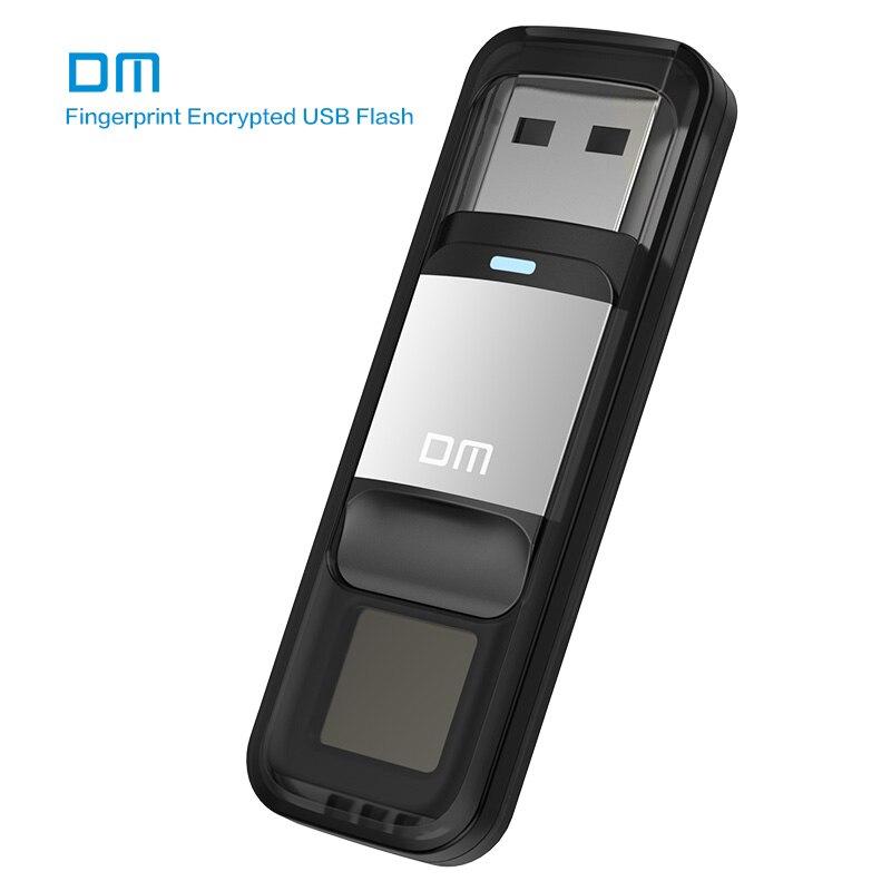 DM PD061 USB3.0 64 GB Dispositivo De Armazenamento Em Disco U Flash Drive Pen Drive Com Função De Criptografia De Impressão Digital De Ouro/Sliver Cor