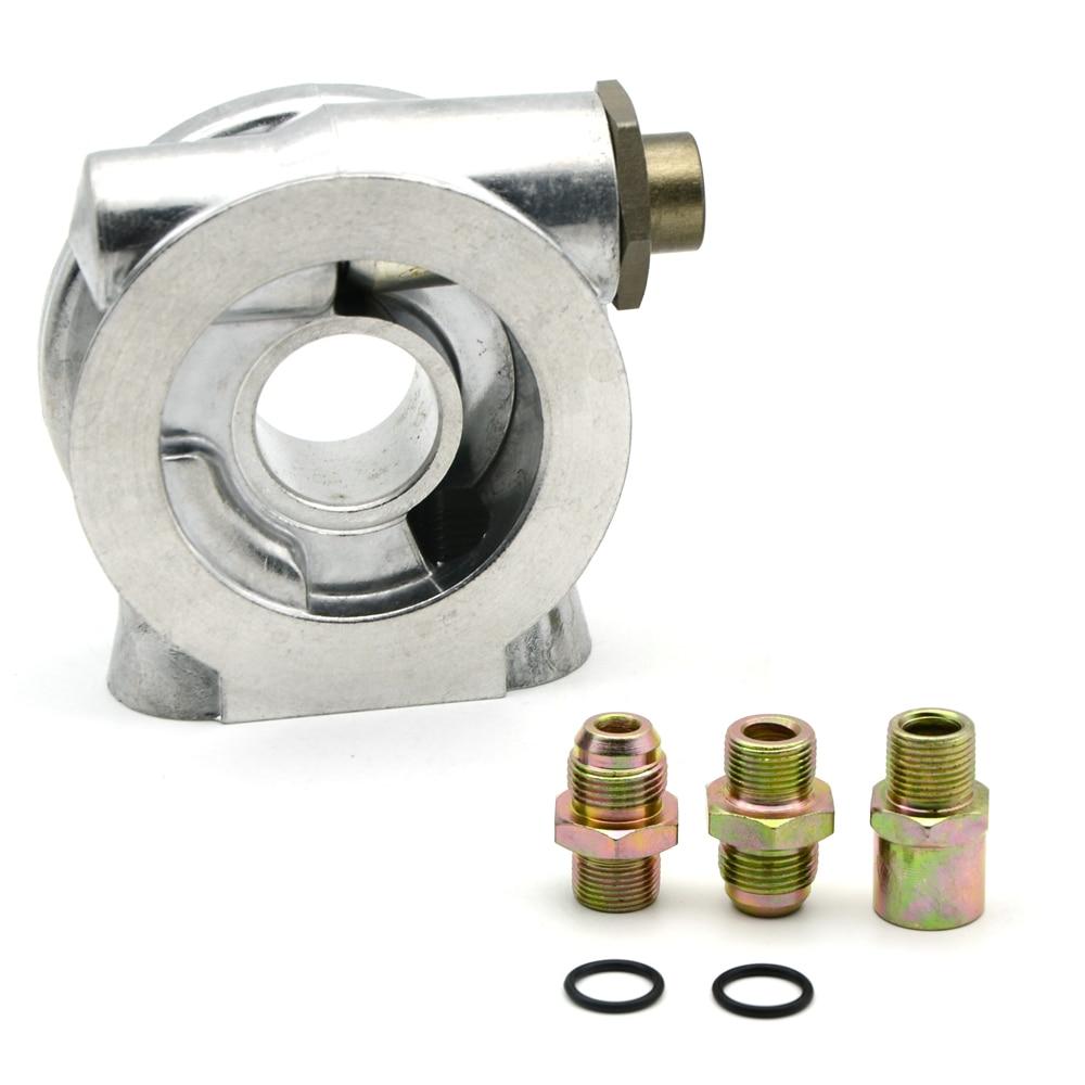 Adattatore filtro olio raccordi AN10 Adattatore termostato piastra sandwich radiatore olio Adattatore filtro olio 3//4-16 UNF