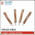 100 unids/lote Cobre Antena Primavera SW433-TH32 433 MHz módulo de RF inalámbrico
