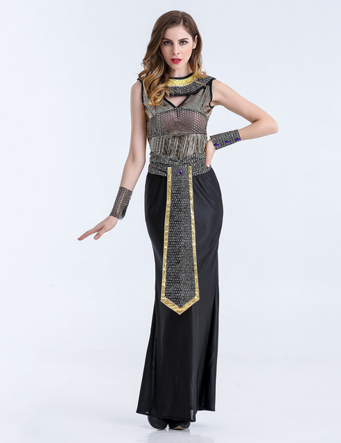 MOONIGHT Halloween Costumes Ancient Egyptian Cleopatra Queen Costume Cosplay Clothing For Women Fancy Dress Costume Outfits 4