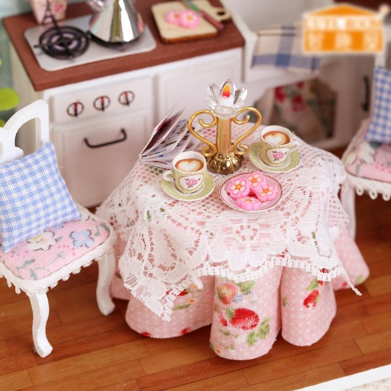 Kids-ChristmasBirthday-Gift-DIY-Wooden-Doll-House-Toys-Dollhouse-Miniature-Box-Kit-Handcraft-Dollhouse-Kitchen-Model-T30-2