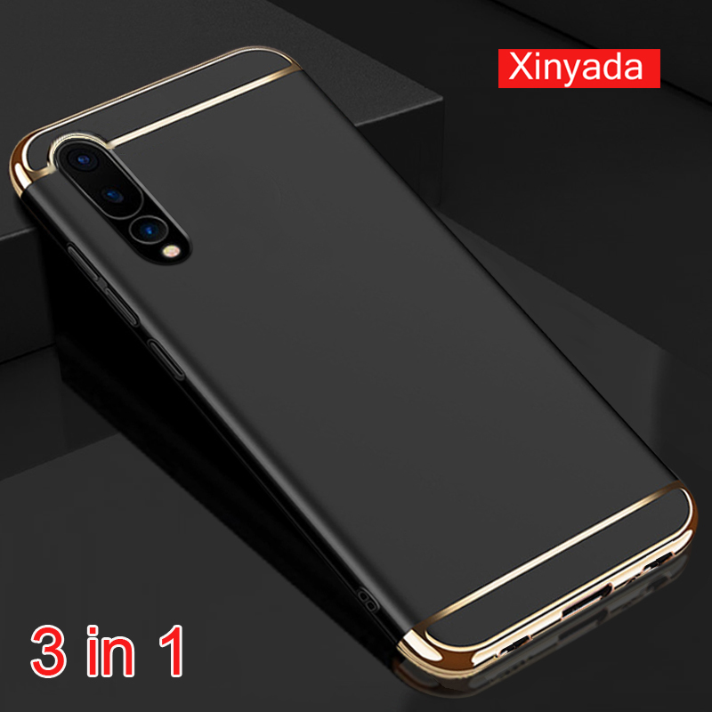 Xinyada Luxury Plastic Back Case For Huawei P20 Lite Nova 3E Matte Cases Cover 3in1 Plating Shockproof For Huawei P20 Pro Plus