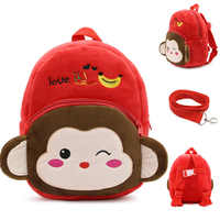 Милый детский рюкзак с мультипликационным принтом, безопасный рюкзак с защитой от потери, рюкзак с динозавром, детский поводок