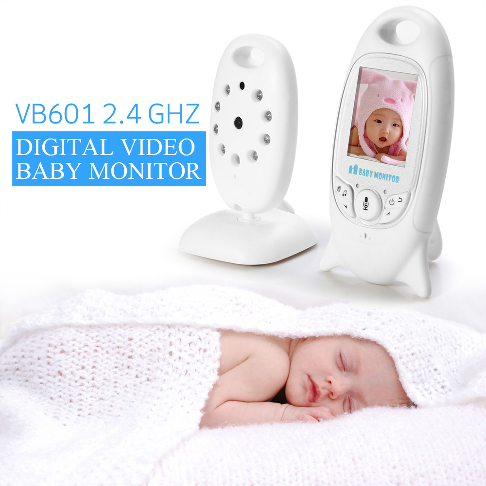 Infant 2 4 GHz Wireles Baby Radio Babysitter Digital Video Baby Monitor Audio Night Vision Music