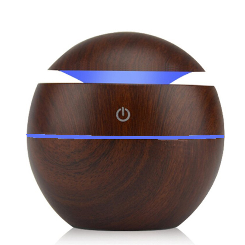 130ml USB Essential Oil Diffuser Ultrasonic Cool Mist Humidifier Air Purifier 7 Color Change LED Night