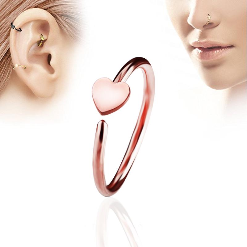 1pcs Sexy Fake Septum Medical Titanium Nose Ring Clicker Nose Ring
