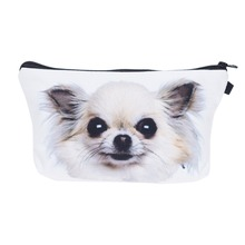 Who Cares Travel Organizer Makeup Bag Chihuahua Bulldog Puppy Mostert 3D Print Cosmetic Wash Bag Women Neceser Maquillaje Bag