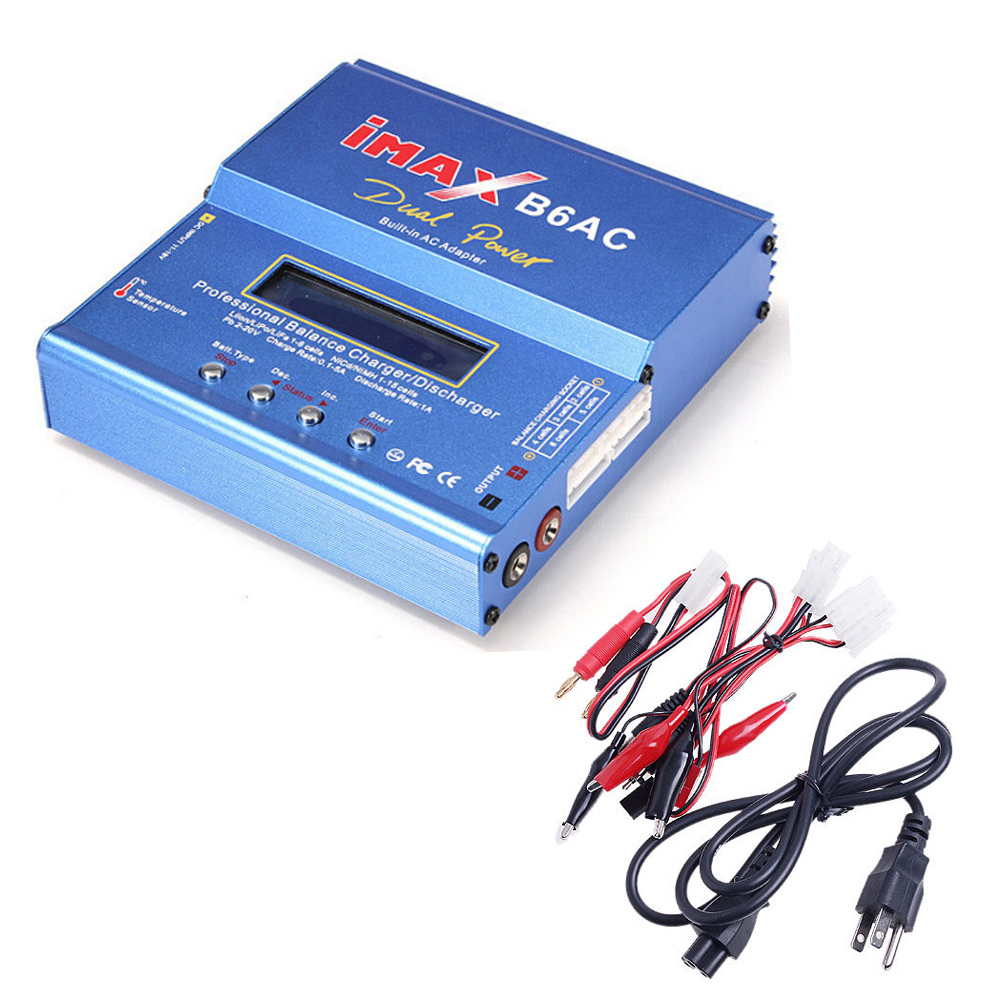 1pcs 80W Digital iMax B6AC Lipro Battery Original Balance Charger for RC Model Nimh Battery Balancing Charger+Retail box