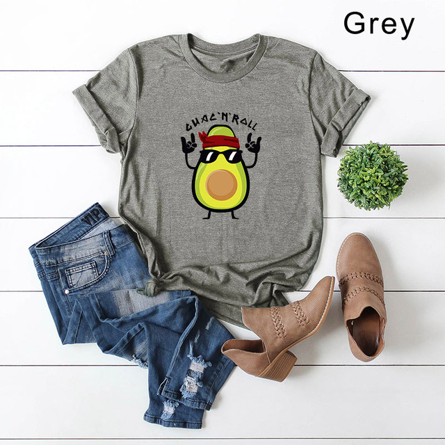 Casual Avocado T-Shirts From S-5XL