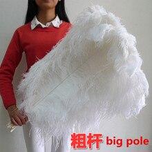 ビッグポールホワイトオーストリッチフェザー 10 個 70 75 センチメートル/28 30 インチのための結婚式装飾高品質プルーム