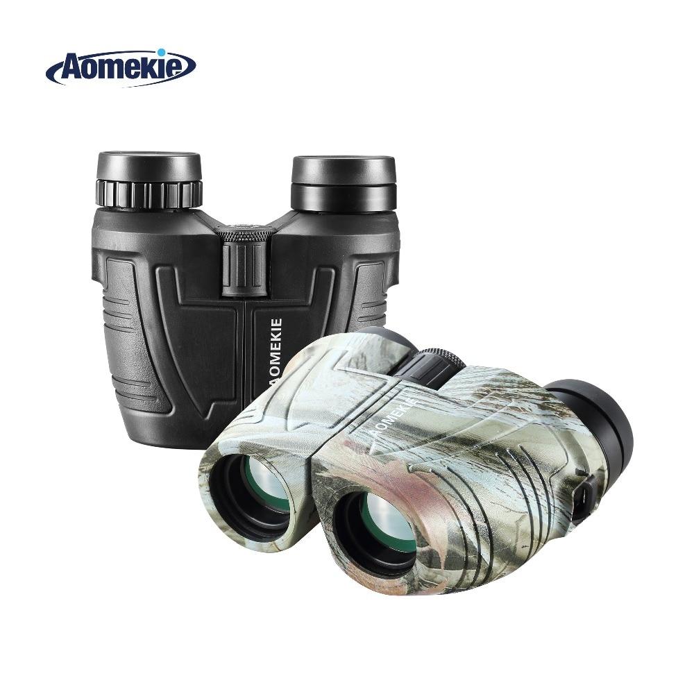 AOMEKIE 12X25 Teropong Compact HD Bak4 Prism FMC Lensa Kaca Optik untuk Outdoor Berburu Berkemah Mengamati Burung Olahraga