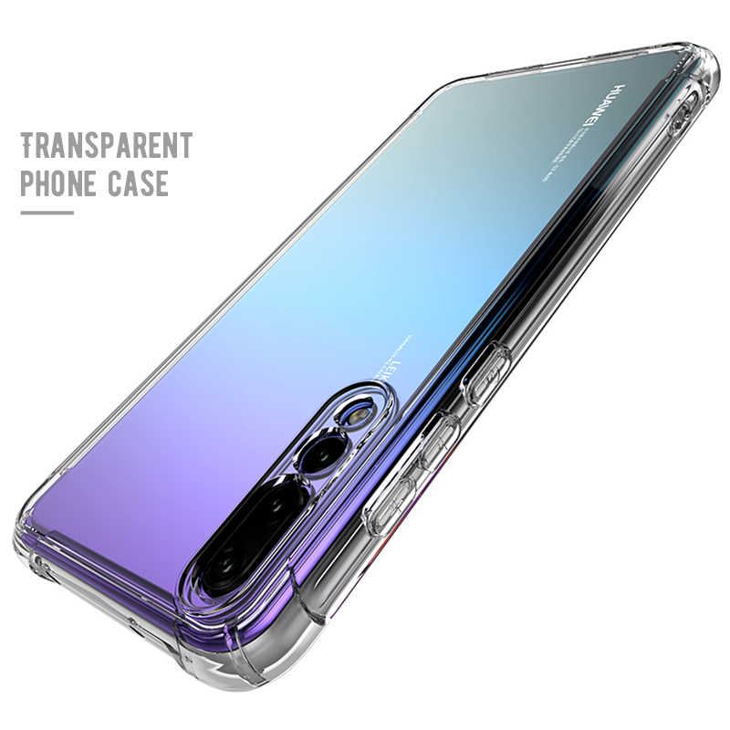 Clear Bumper Shockproof Cover Case For Huawei P20 Lite P20 Pro Airbag Soft TPU Case For Huawei P20 Air Cushion Silicone housing