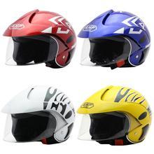 Four Seasons Children's Helmet Electric Motorcycle Harley Half Helmet Men And Women Baby Riding Helmet Autumn Winter Supplies недорого