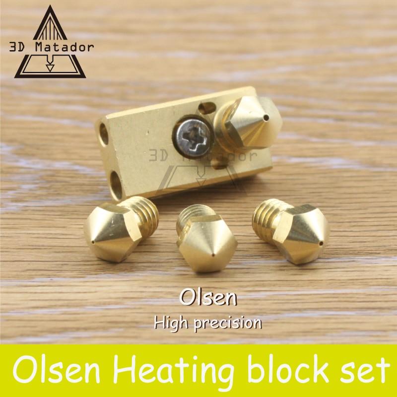 O envio gratuito de impressora 3D Ultimaker 2 + UM2 Estendido + Olsson bloco hotend kit para 1.75mm/3mm filamento bocal intercambiável