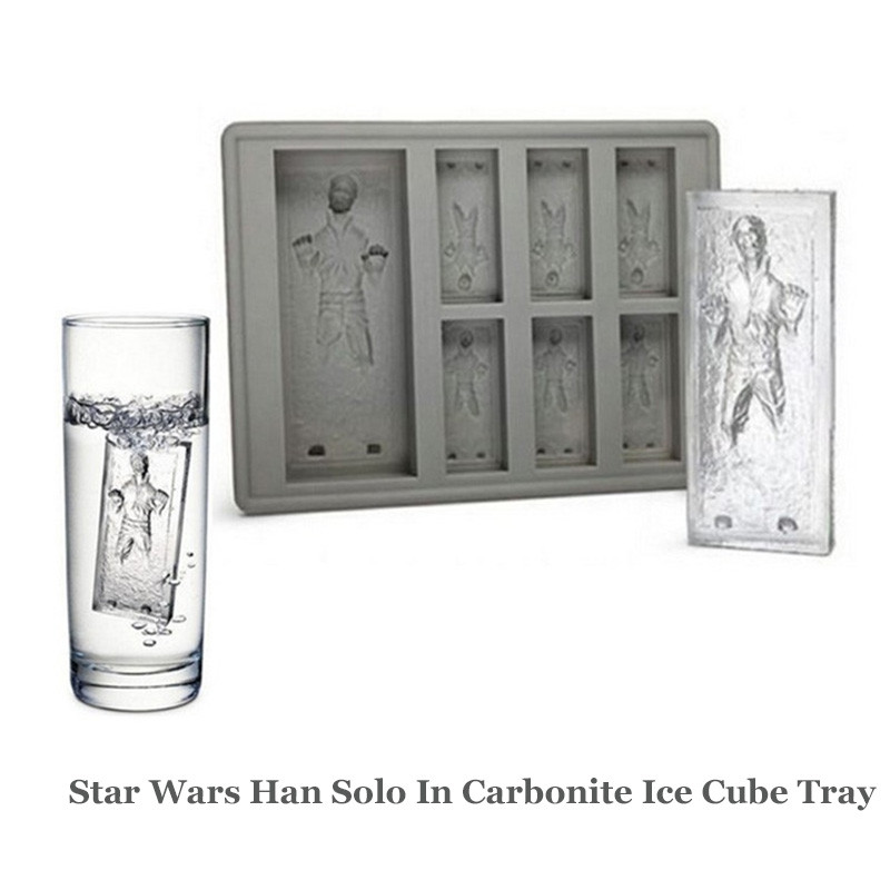 Star Wars Han Solo In Carbonite Silicone Ice Mold Mini Ice Cube Tray Funny Party Drink Ice New Tricks Maker