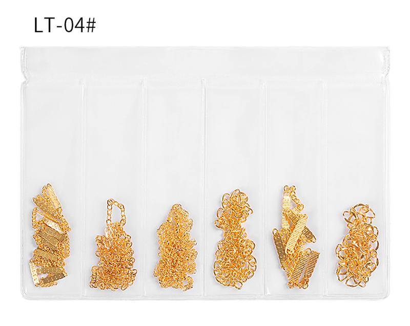 04 Nail Chain Ornaments Color Tassel Nail Decoration Punk Style