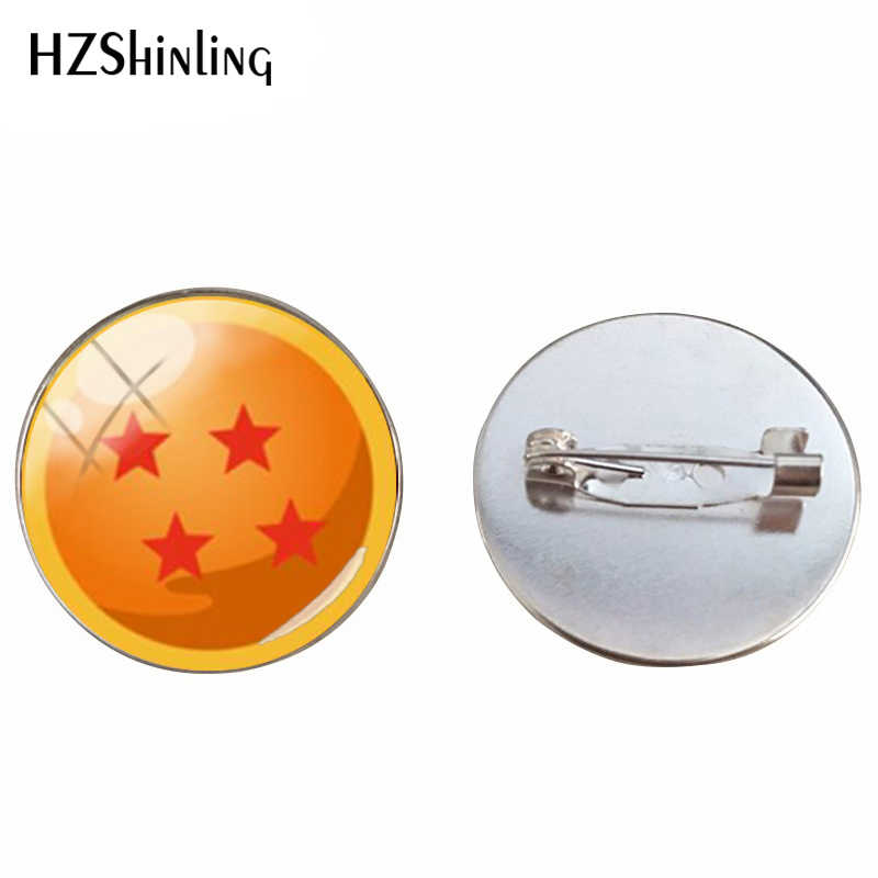 2019 New Dragon Ball Bintang Handmade Bros Cabochons Dome Dragon Ball Fashion Kerajinan Bros Pin Perhiasan Hadiah