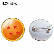 2019 New Dragon Ball Bintang Handmade Bros Cabochons Dome Dragon Ball Fashion Kerajinan Bros Pin Perhiasan Hadiah(China)