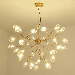 Image 2 - Lampe suspendue suspendue en forme de luciole, en noir et en or, design moderne, luminaire dintérieur, luminaire dintérieur, luminaire dintérieur, livraison directe
