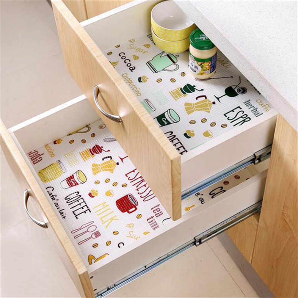 1pc 40cm x 28cm esteira da mesa da cozinha gaveta forro guarda-roupa almofada armário placemat moistureproof navio da gota