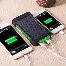 2016 Nuevo Portátil A Prueba de agua Solar Banco de la Energía 10000 mah Dual USB powerbank Cargador de Batería Solar para todo el Teléfono Universal cargador