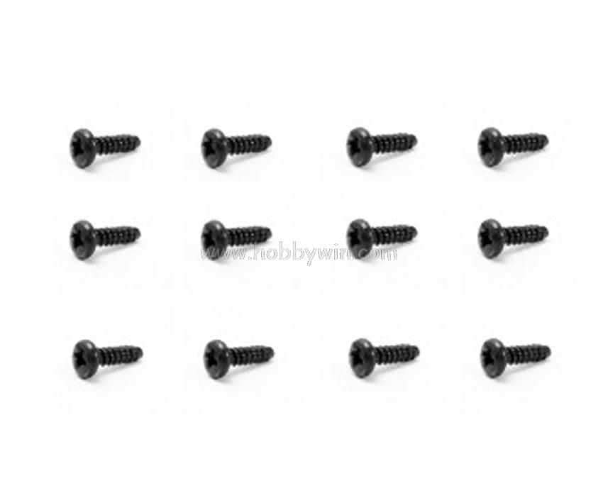 s003 hbx part round head self tapping screw  st3 8   12p for haiboxing rc monster truck